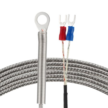 K Type Temperature Sensor Probe 4M Cable 6mm Hole Spring Thermocouple 32~1112°F (0~600°C) - image 3 of 3