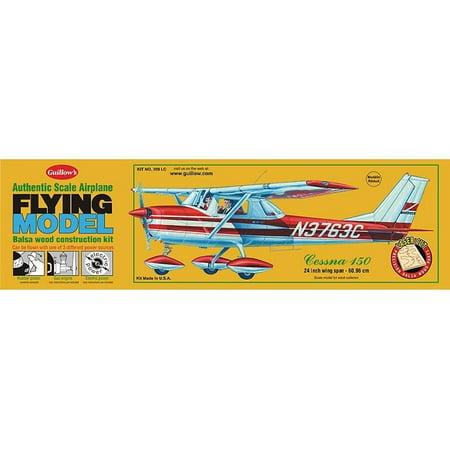 Flying Balsa Wood Model Airplane Kit, Guillow's Cessna 150, Aviation  -