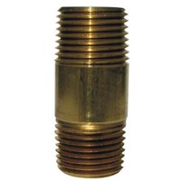 0.12 x 2 in. Red Brass Bulk Nipple