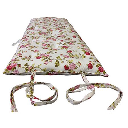 Brand New Full Size Rose White Traditional Japanese Floor Futon Mattresses Foldable Cushion Mats