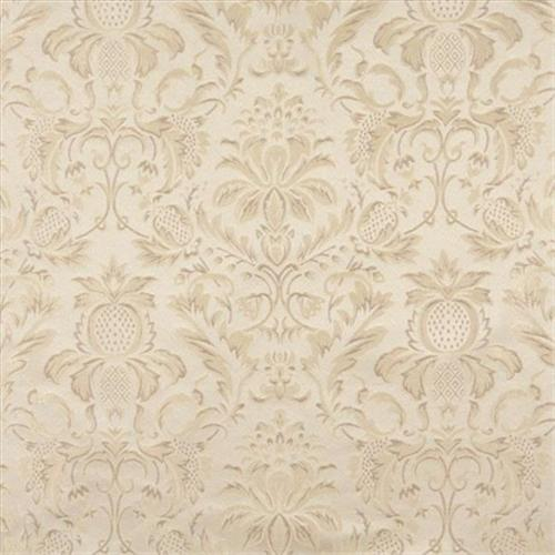 Designer Fabrics F555 54 inch Wide Ivory, Floral Pineapple Damask Upholstery And Drapery Grade Fabric