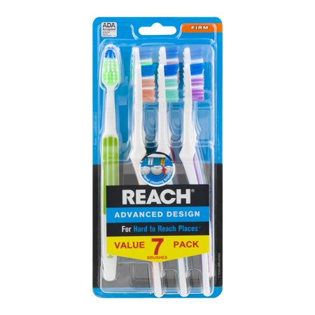(2 pack) Reach Advanced Design Toothbrushes, Firm Bristles, 7 Count