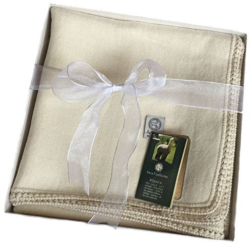 Alpaca Baby Blanket / Toddler Blanket, (100% Baby Alpaca)...