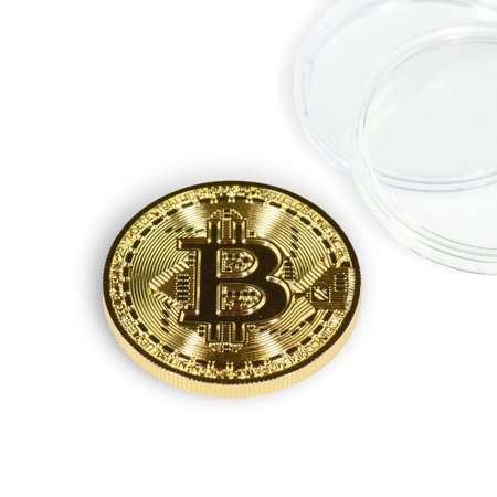 - Bitcoin Collectible|Gold Plated Commemorative Blockchain Coin| Collector's Coin