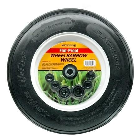 Maxpower 335270 8 in Flat Proof Wheelbarrow Wheel