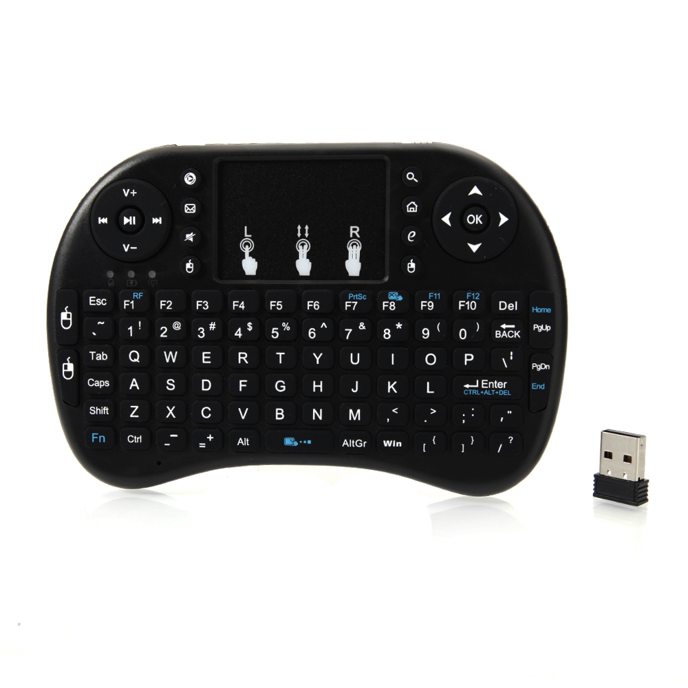 Ktaxon i8 2.4Ghz Mini Wireless Keyboard Remote Controls Touchpad for Tablet PC HTPC