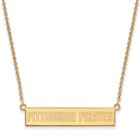 Pittsburgh Pirates Women's Gold-Plated Sterling Silver Small Bar Necklace - No Size