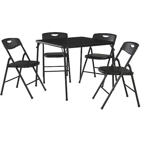 Cosco 5-Piece Folding Table and Chair Set, Multiple - Living Room Set Folding Table