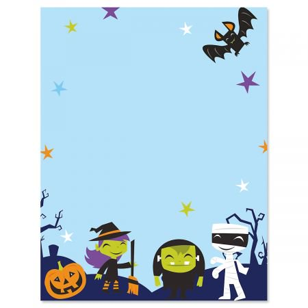Monster Squad Halloween Letter Papers - Fall letter papers are 8-1/2