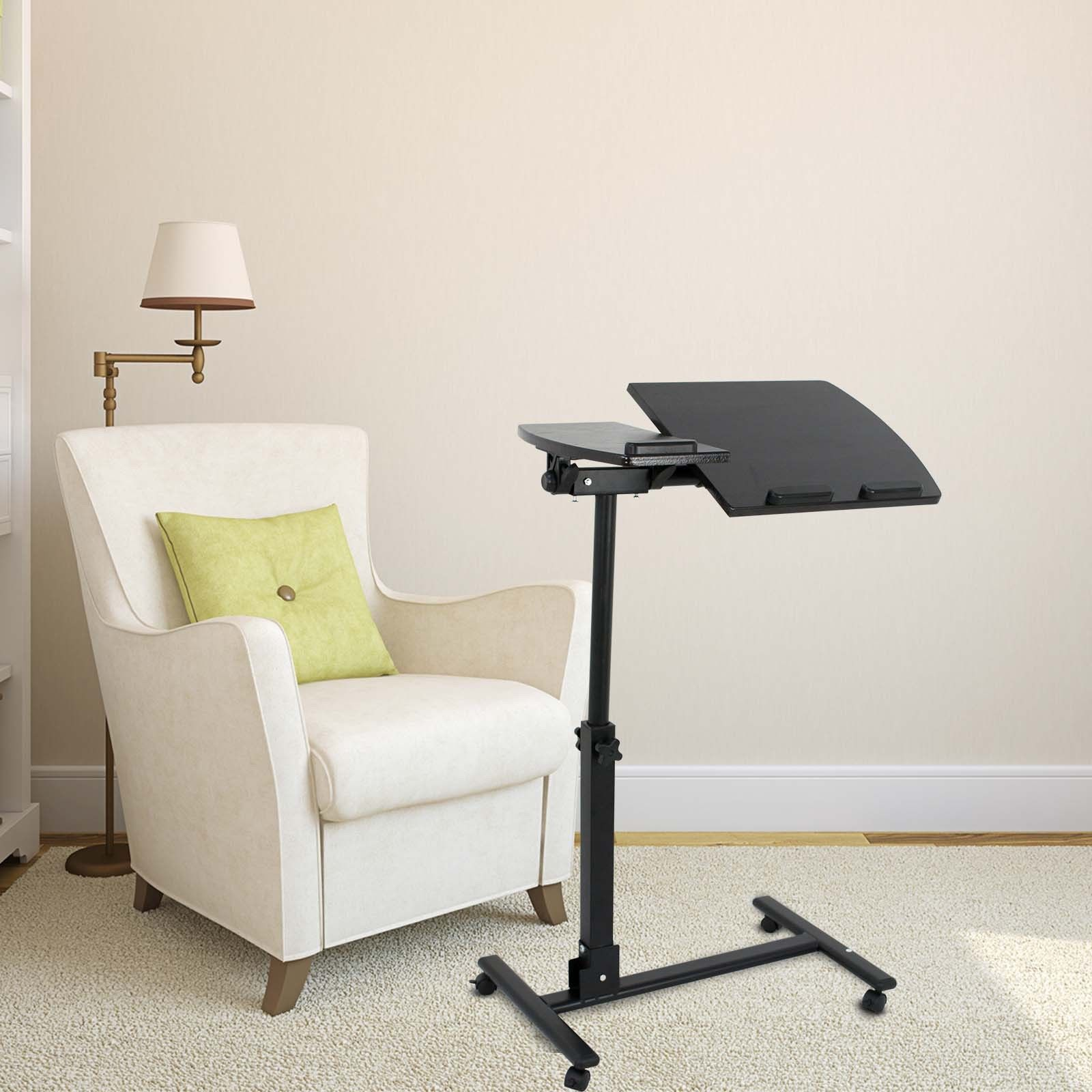 Zeny Angle Height Adjustable Rolling Laptop Notebook Desk Over Sofa Bed Table Stand