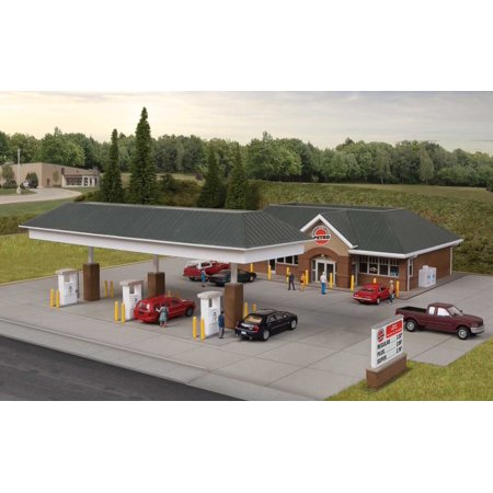 Walthers-Modern Gas Station -- Kit - Main Building: HO