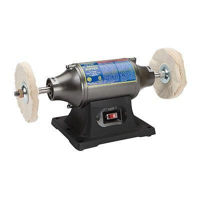"6"" Bench Table Top Buffing Machine Polisher Buffer Smooth..."