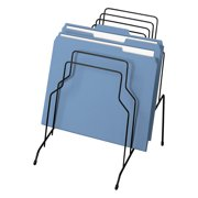 """Fellowes Wire Step File, 8 Sections, Letter to Legal Size Files, 10.13"""" x 12.13"""" x 11.19"""", Black"""