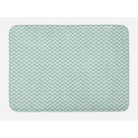 ivory and blue bath mat wavy stripes pattern bicolor. Black Bedroom Furniture Sets. Home Design Ideas