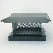 "HomeSaver 14806 12"" x 12"" Black Galvanized Steel Single-Flue Chimney Cap with 8"""