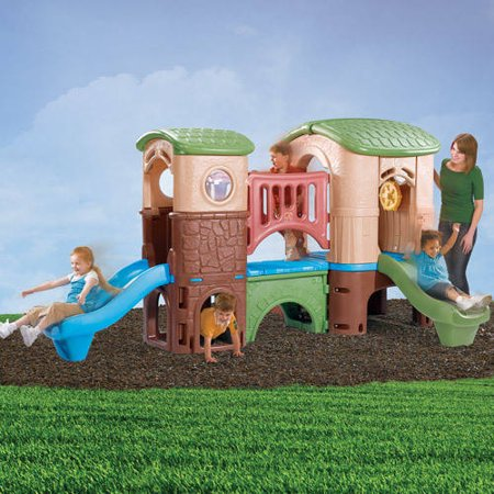 Step2 Naturally Playful Clubhouse Climber with Two Slides