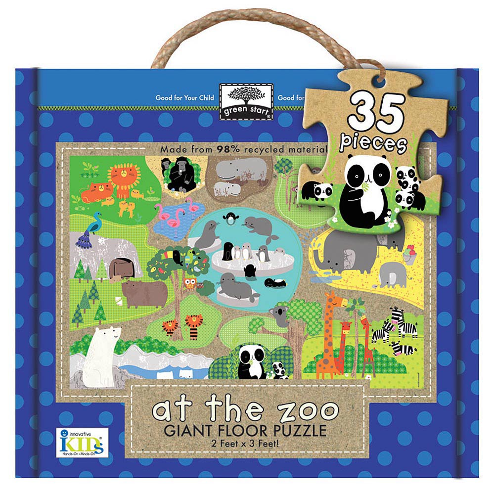At the Zoo 35 Piece Floor Puzzle,  Kids Puzzles by Innovative Kids