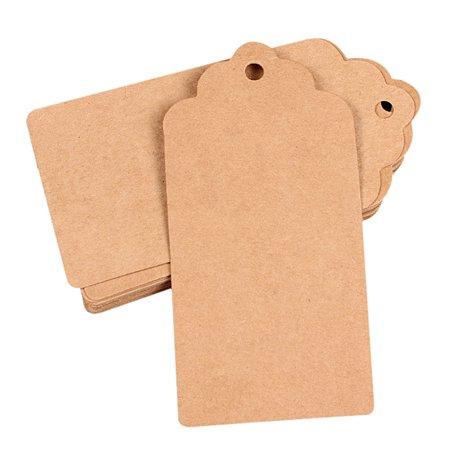 100pcs Wedding Kraft Paper Tag Bonbonniere Favor Gift Tags (Tags For Wedding Favors)
