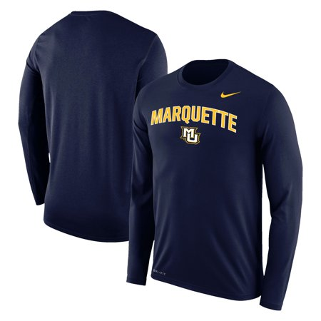 Marquette Golden Eagles Nike Arch Over Logo Long Sleeve T-Shirt - Navy