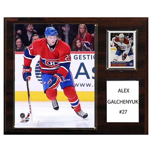 C and I Collectables NHL 15W x 12H in. Alex Galchenyuk Montreal Canadiens Player Plaque