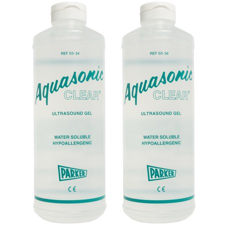 Aquasonic Clear Ultrasound Gel - 1 Liter Bottle - Pack of 2