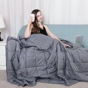 "20 lbs 60""x80"" Auchen Weighted Blanket--Auchen Gravity Heavy Blanket, Adult Women Men Premium Cotton Glass Beads, Fit Queen Sized Bed--Christmas Gifts!"