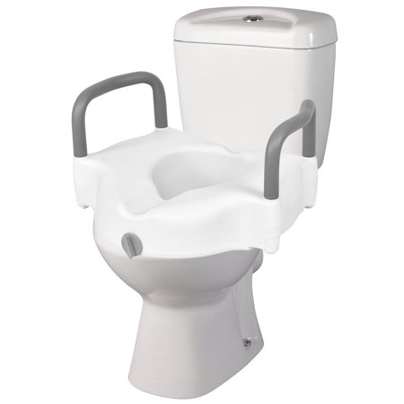 Super Costway Portable Elevated Raised Toilet Seat 5 Lift Riser Safety Rails W Arms Bathroom Forskolin Free Trial Chair Design Images Forskolin Free Trialorg