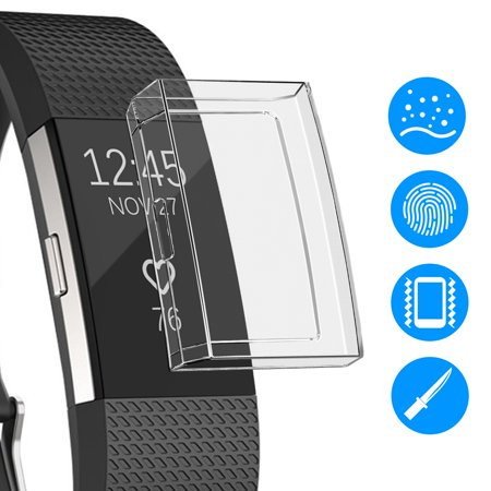 Ultra Slim Soft Full Cover Case for Fitbit Charge 2, TPU Protective Cases Frame Shockproof Cover Shell ()
