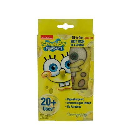 Spongebob Squarepants Body Wash Infused Sponge (Pack Of - Spongebob 24