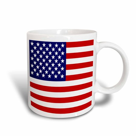 3dRose American Flag - Patriotic USA stars and stripes red white and blue - 4th July America Patriot, Ceramic Mug, 11-ounce
