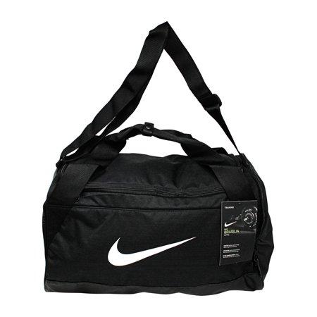 Nike Brasilia Small Duffel Polyester Duffle Bag Hobo - Black / White ()