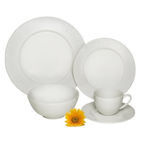 Melange cascades premium 40 piece dinnerware set service Most popular china patterns