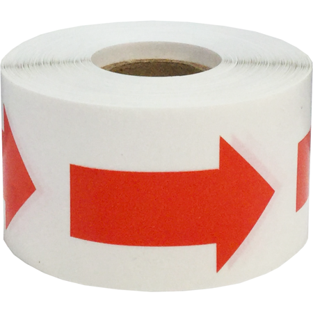 Color Coding Arrow Labels Red For Organizing Inventory 2 x 1 Inch 500 Total Adhesive Stickers