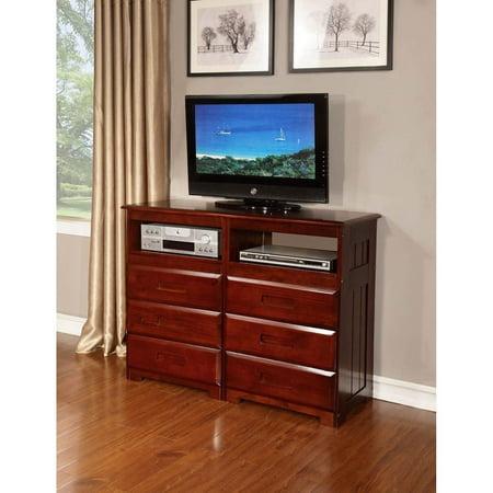 American Furniture Clics 6 Drawer Entertainment Dresser Merlot