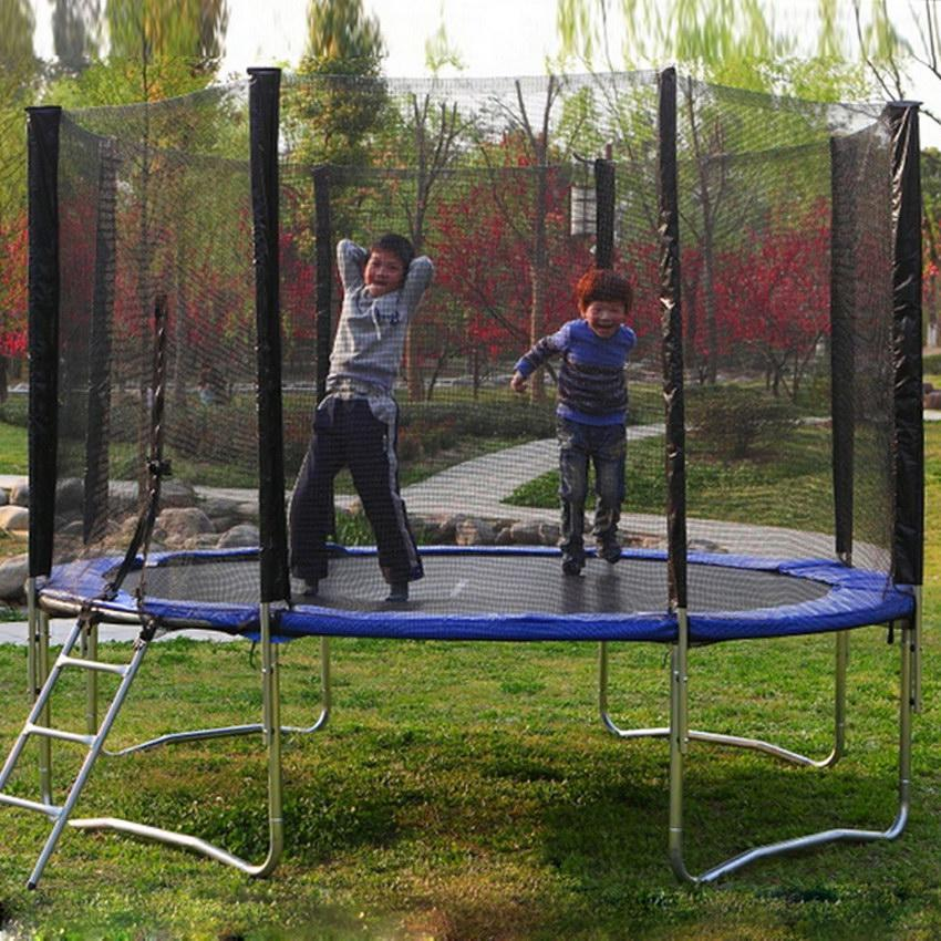 Hascon12'  8 Pole Round Trampoline Enclosure Net Fence Replacement Safety Net HITC