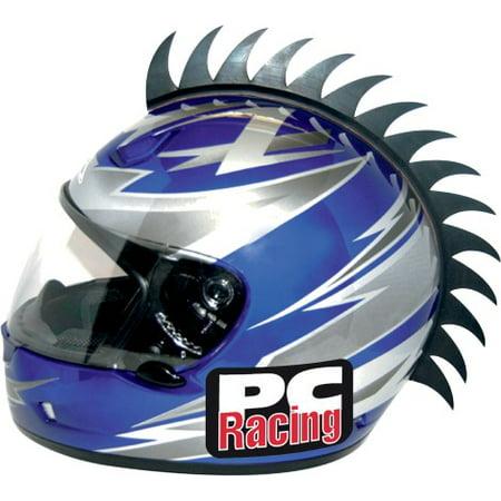 PC Racing Helmet Blade Mohawk Saw Black](Horse Racing Helmets)