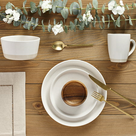 Safdie & Co. 16-Piece Dinnerware Set, Cream, 2 (2 Tone 16 Piece)