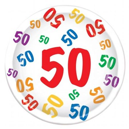 Graphic Number Plate (Beistle Number 50 Birthday Paper 9
