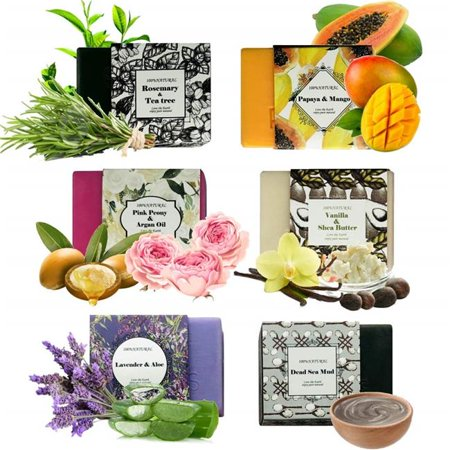 Pure Parker B078HB2MG7 Handmade Soap Bars Gift Set - 6 Piece