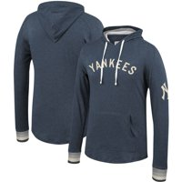 New York Yankees Mitchell & Ness Lightweight Pullover Hoodie - Heathered Navy