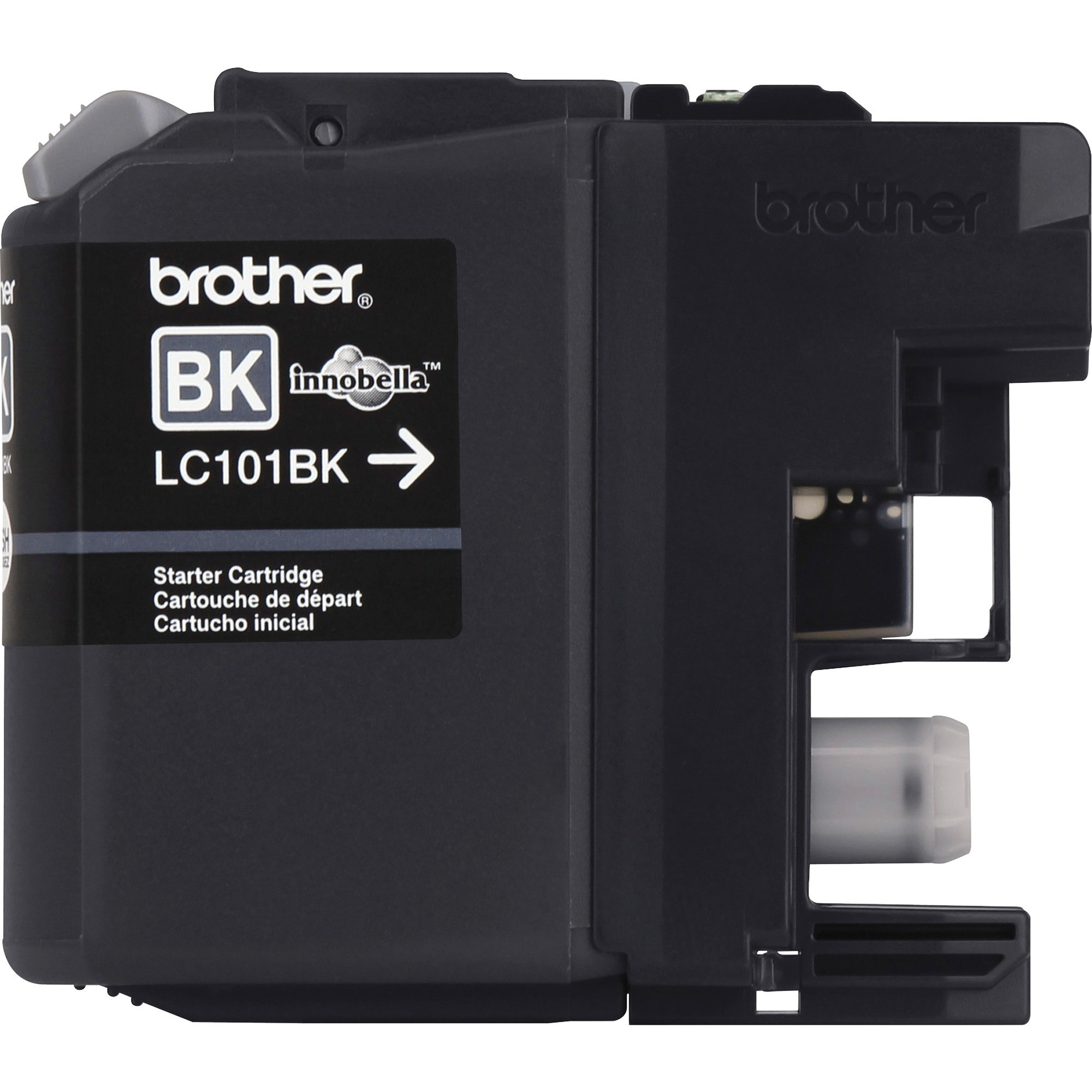 Brother Genuine Standard Yield Black Ink Cartridge, LC101BK, Replacement Black Ink, Page Yield Up To 300 Pages, LC101