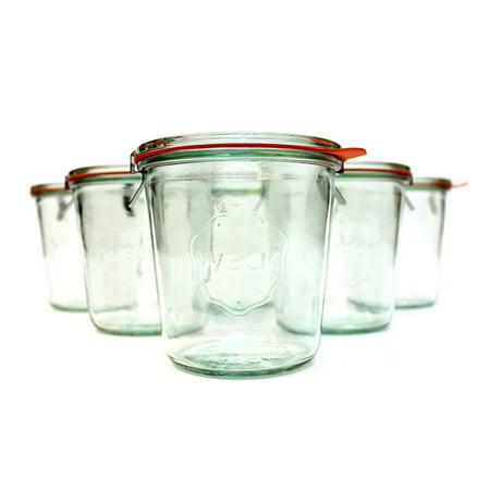 Weck 742 500mL (1/2L) Canning Jar; SET OF 6 (Weck Canning Jars)