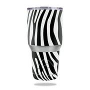 Skin Decal Wrap for Ozark Trail 30 oz Tumbler Black Zebra