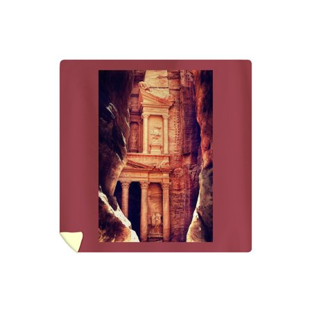 Petra, Jordan - The Treasury (Al-Khazneh) - Archaeological Site - Lantern Press Photography (88x88 Queen Microfiber Duvet Cover) (Jordan Bedding)
