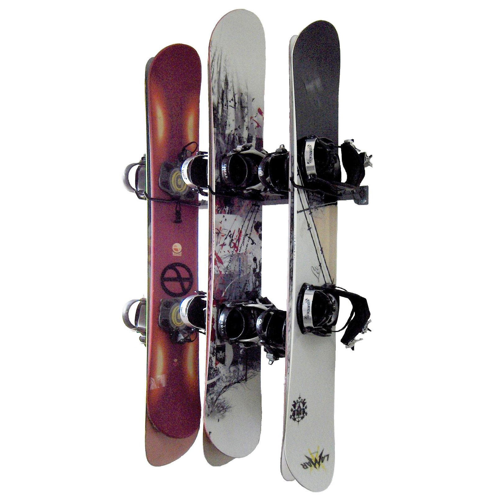 Monkey Bar Storage Snowboard Rack by Gorgeous Garages