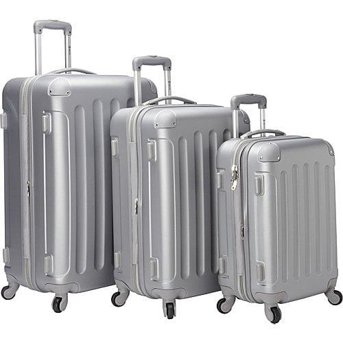McBrine Luggage Eco Friendly Hardside 3 Piece Set With Spinner Wheels