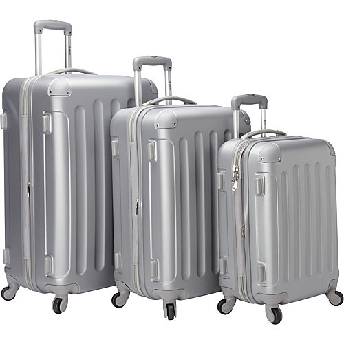 McBrine Luggage Eco Friendly Hardside 3 Piece Set With Spinner Wheels