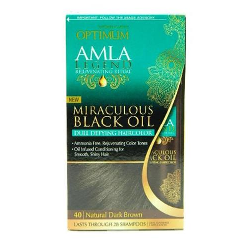 Optimum Care Amla Legend Miraculous Oil Dull Defying Hair Color, 40 Natural Dark Brown 1 ea (Pack of 2)