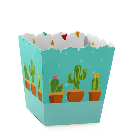 Let's Fiesta - Party Mini Favor Boxes - Mexican Fiesta Baby Shower or Birthday Party Treat Candy Boxes - Set of 12 Mini Treat Boxes