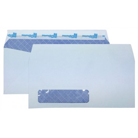 2000 ShippingMailers 4 1/8 x 9 1/2 White Security Window #10 Envelopes /w Self Adhesive Flap